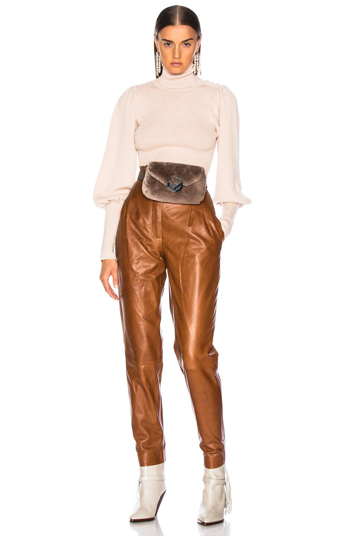 Image 2 of Fendi Shearling Hip Belt in Dove