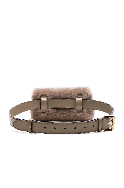 Image 3 of Fendi Shearling Hip Belt in Dove