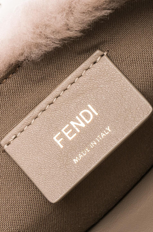 Image 7 of Fendi Shearling Hip Belt in Dove