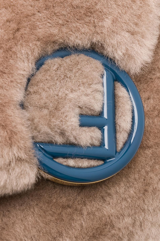 Image 8 of Fendi Shearling Hip Belt in Dove