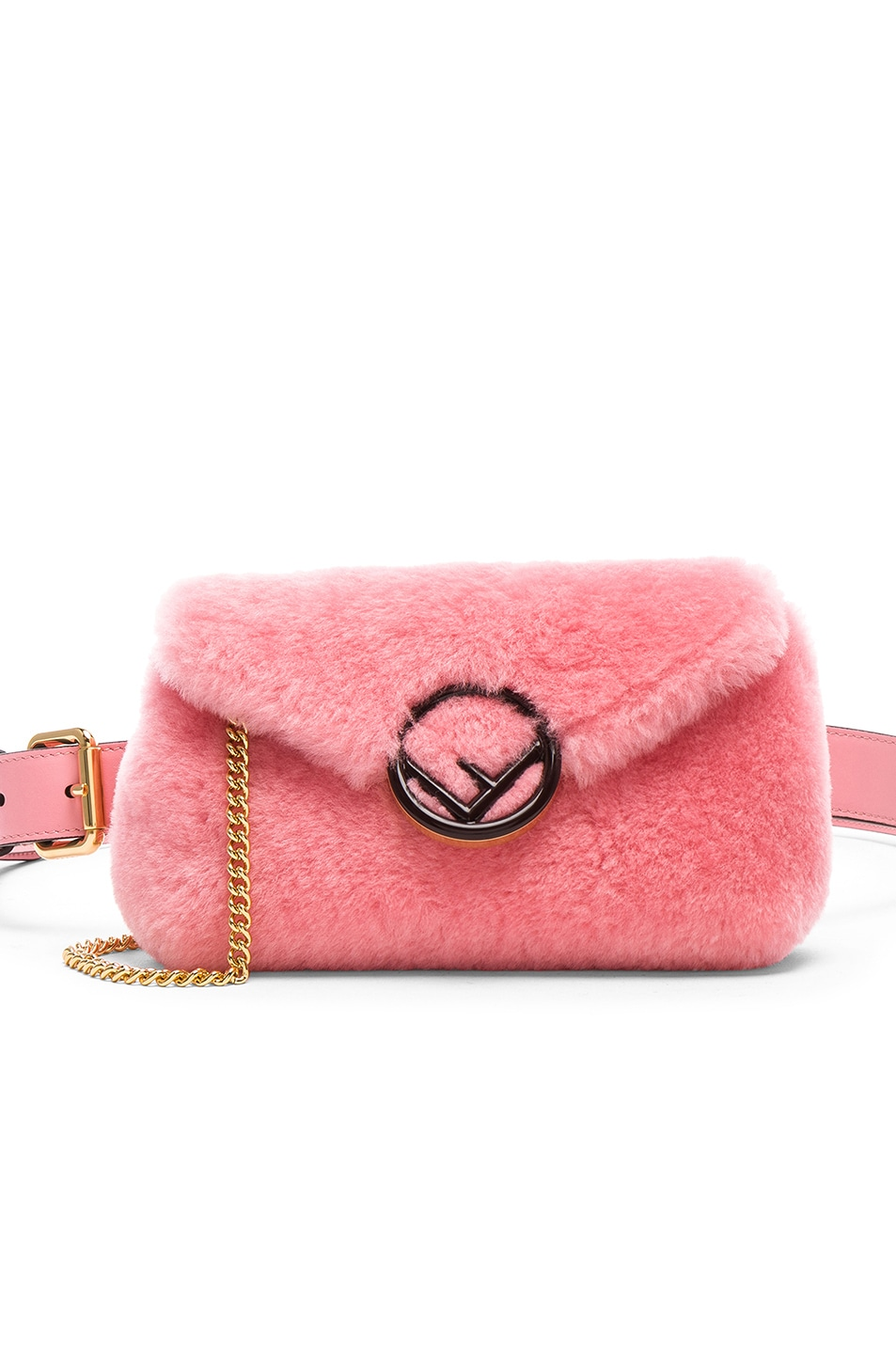 99ae4454d82 Image 1 of Fendi Shearling Hip Belt in Pink