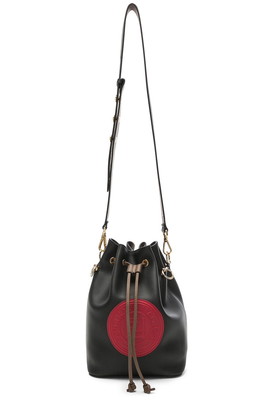 Image 6 of Fendi Logo Emblem Mon Tresor in Black & Strawberry