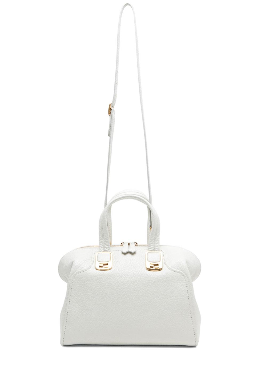 Image 5 of Fendi Medium Satchel Bag in White