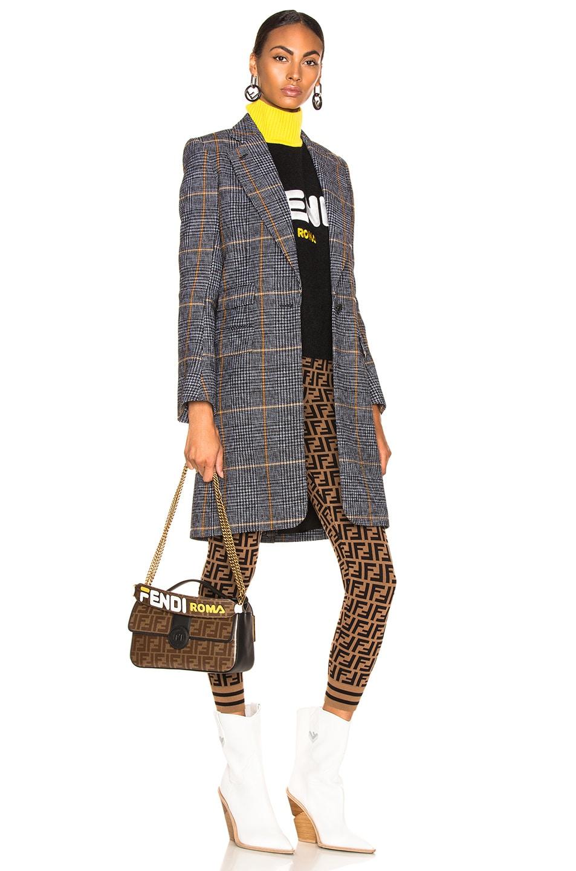 Image 2 of Fendi Fendi Mania Mini Bag Strap in Brown & White