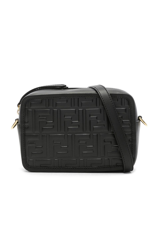 Image 1 of Fendi Mini Logo Embossed Camera Case in Black