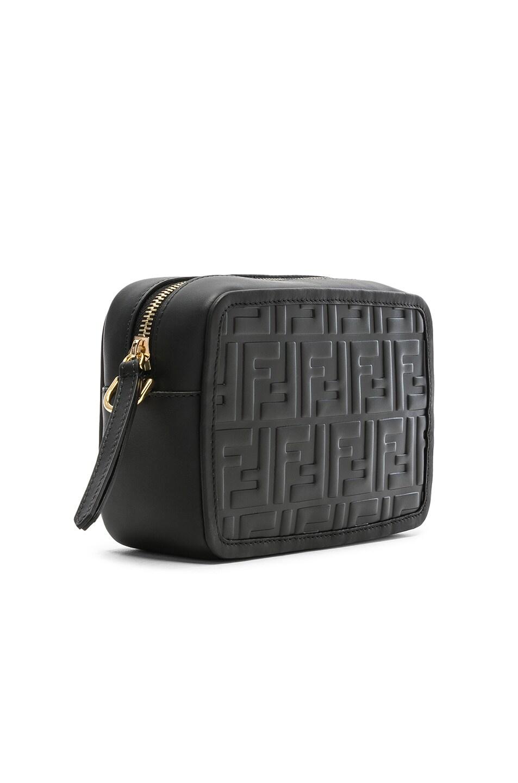 Image 4 of Fendi Mini Logo Embossed Camera Case in Black