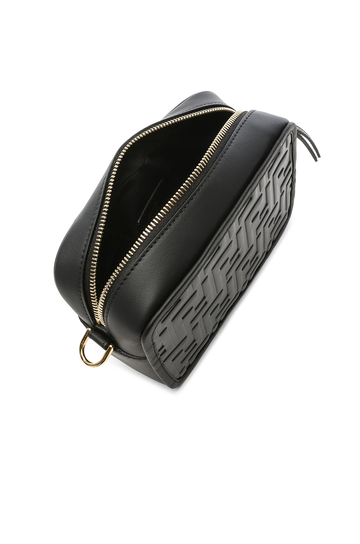Image 5 of Fendi Mini Logo Embossed Camera Case in Black