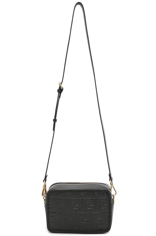 Image 6 of Fendi Mini Logo Embossed Camera Case in Black