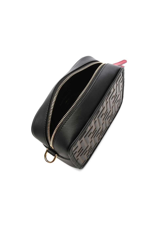 Image 5 of Fendi Mini Logo Embossed Camera Case in Black & Brown