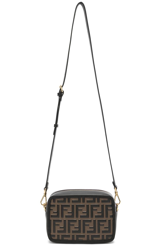 Image 6 of Fendi Mini Logo Embossed Camera Case in Black & Brown
