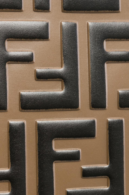 Image 8 of Fendi Mini Logo Embossed Camera Case in Black & Brown