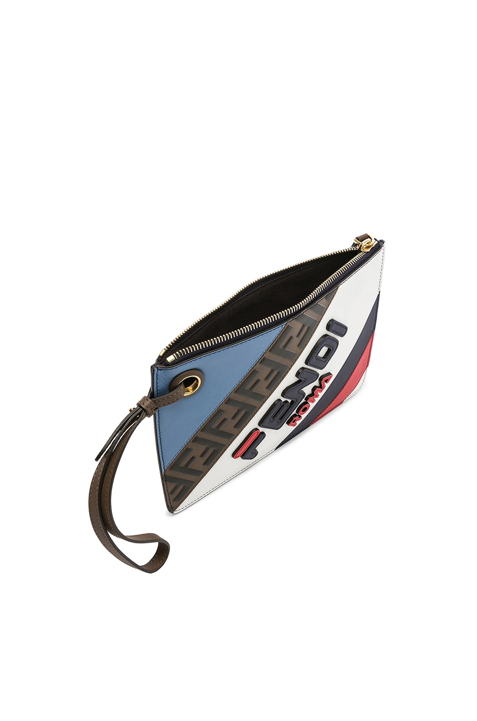 Image 5 of Fendi x FILA Small Logo Pouch in White & Multicolor
