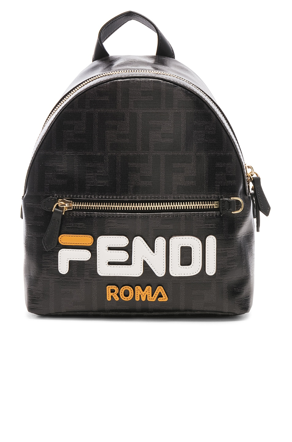 Image 1 of Fendi x FILA Small Logo Backpack in Black