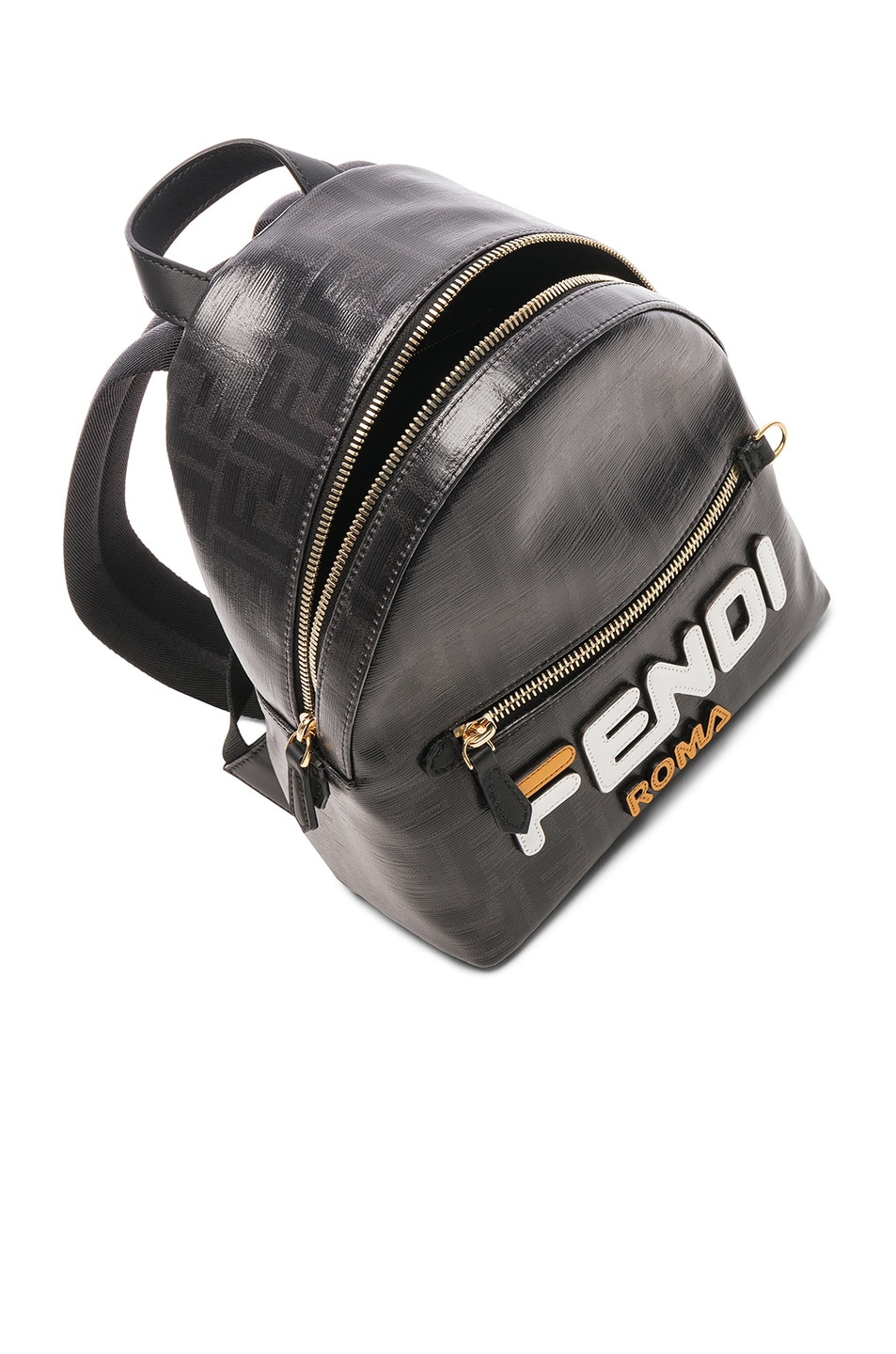 Image 5 of Fendi x FILA Small Logo Backpack in Black
