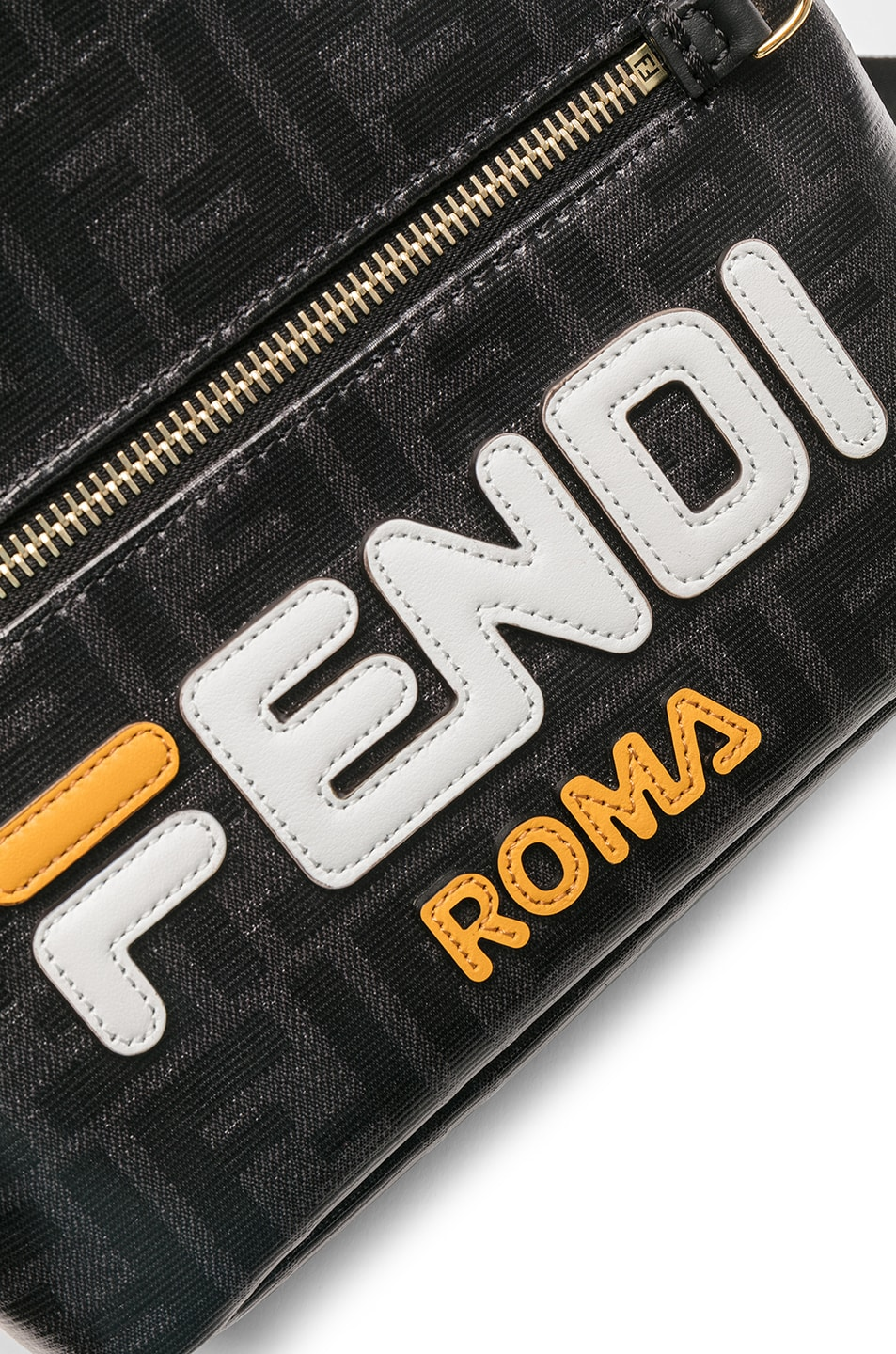 Image 7 of Fendi x FILA Small Logo Backpack in Black