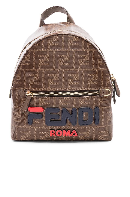 Image 1 of Fendi x FILA Small Logo Backpack in Brown
