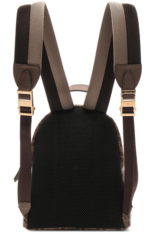 Image 3 of Fendi x FILA Small Logo Backpack in Brown
