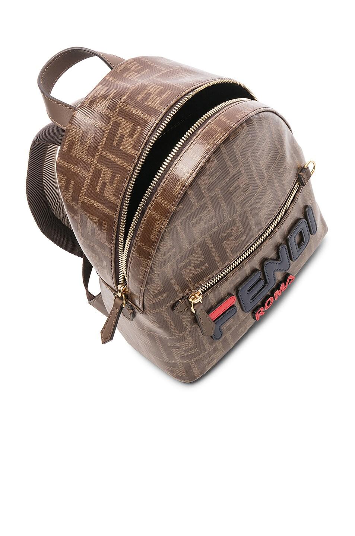 Image 5 of Fendi x FILA Small Logo Backpack in Brown