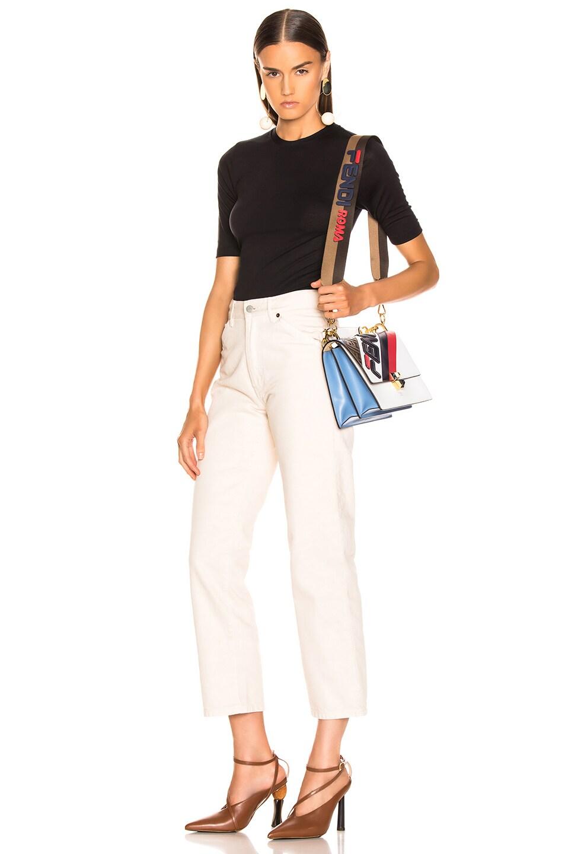 Image 2 of Fendi x FILA Ribbon Logo Bag Strap in Brown & Multicolor