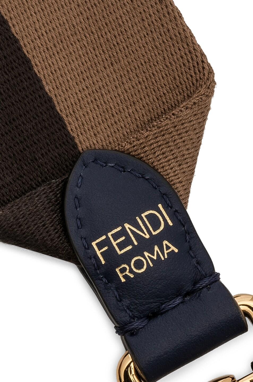 Image 4 of Fendi x FILA Ribbon Logo Bag Strap in Brown & Multicolor