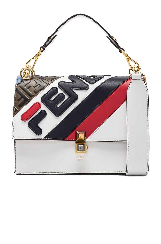 Image 1 of Fendi x FILA Logo Bicolor Kan I in White
