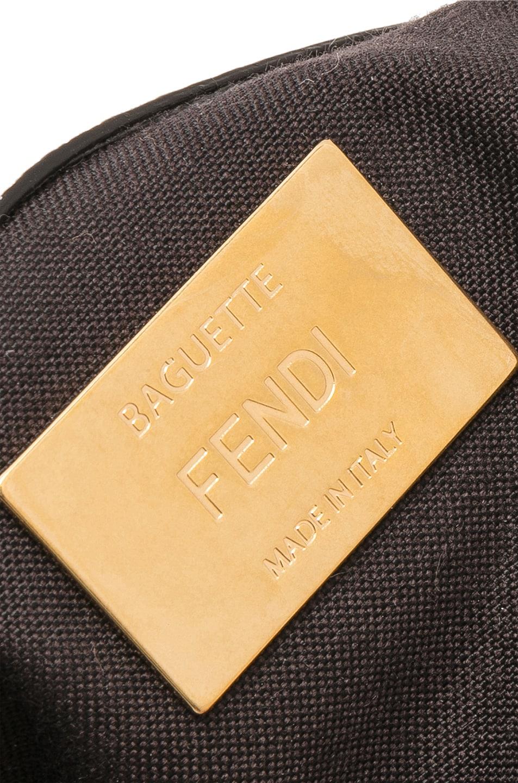Image 7 of Fendi x FILA Logo Beaded Trim Baguette in White
