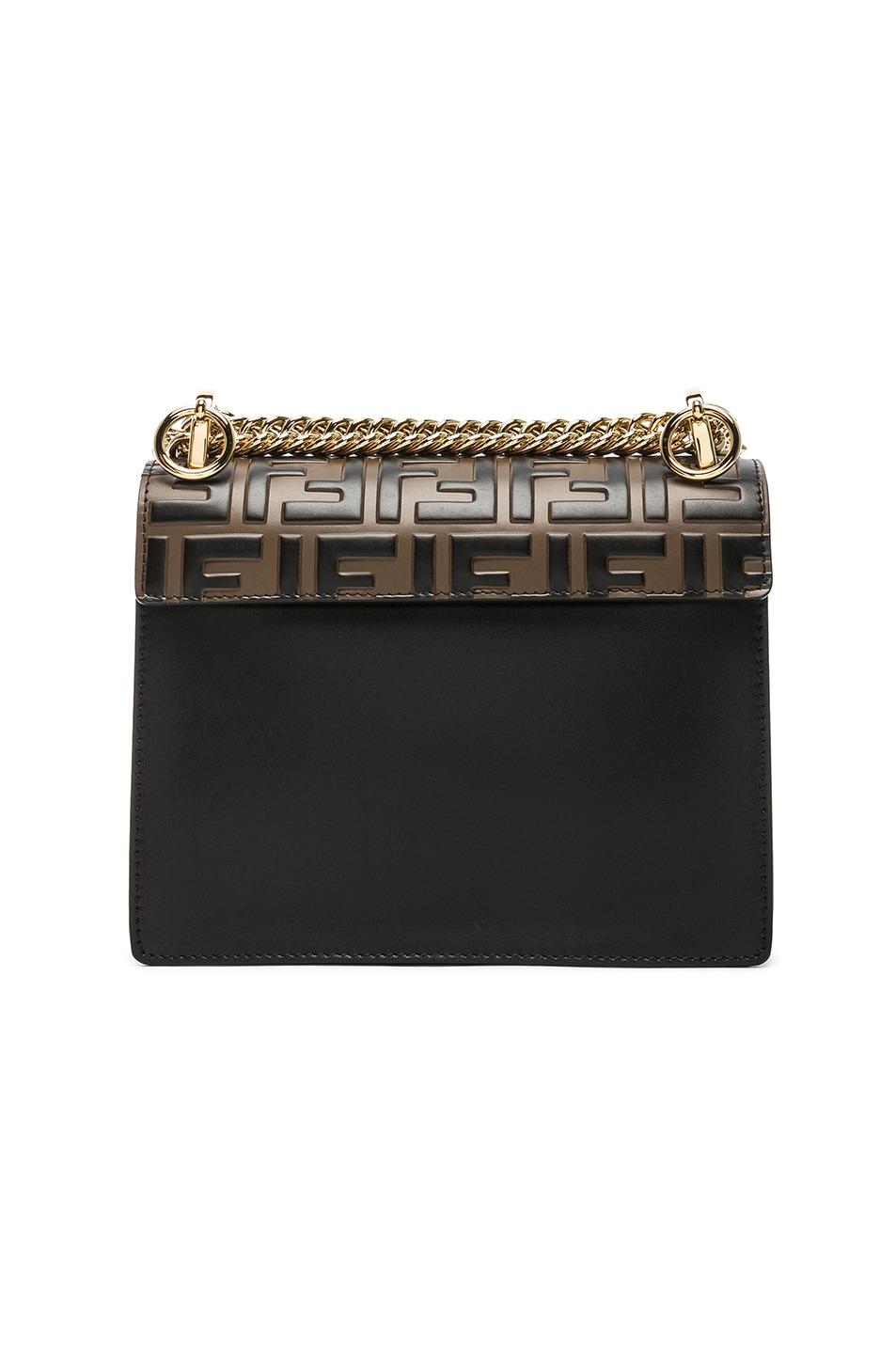 Image 3 of Fendi Small Logo Embossed Kan I in Black & Brown