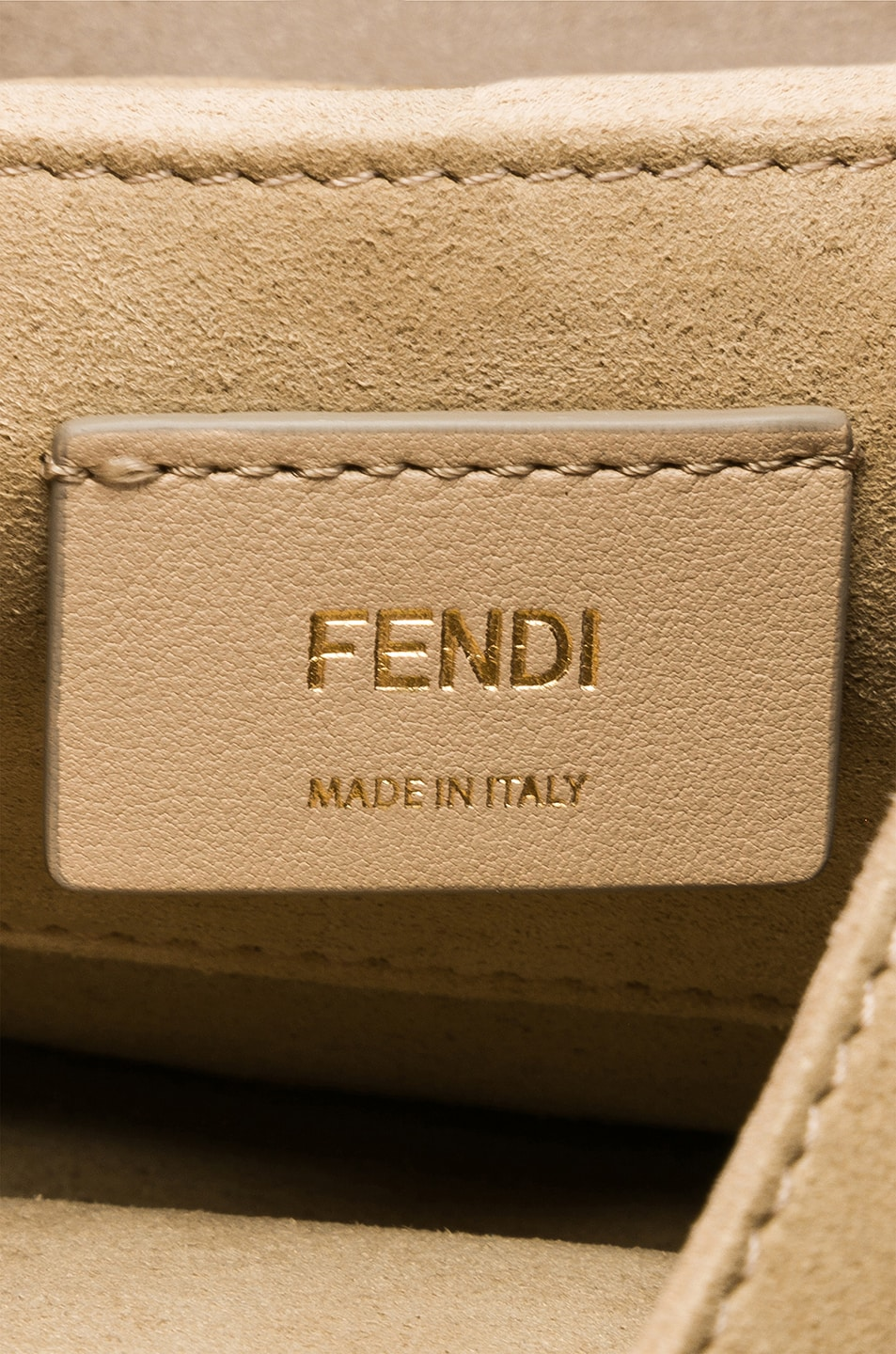 Image 7 of Fendi Small Logo Embossed Kan I in Black & Brown