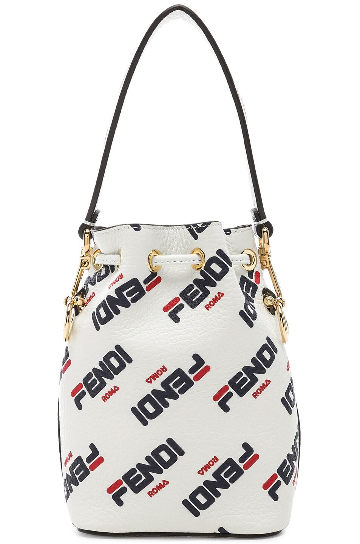 Image 3 of Fendi x FILA Mini Logo Mon Tresor in White