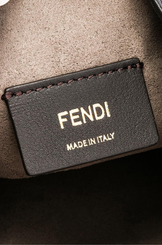 Image 7 of Fendi Mini Logo Studded Mon Tresor in Black, Gold & Palladium