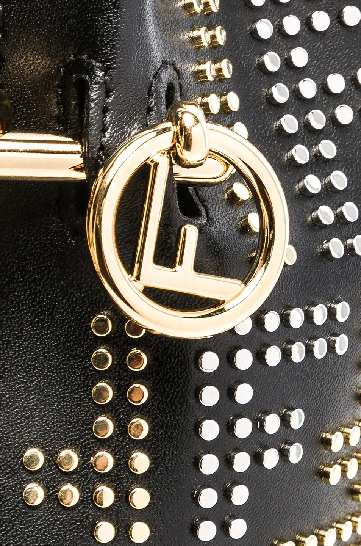 Image 8 of Fendi Mini Logo Studded Mon Tresor in Black, Gold & Palladium