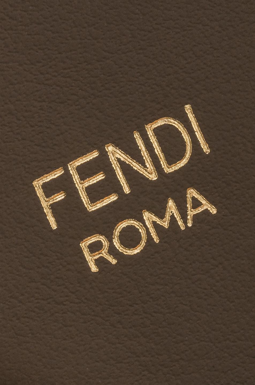 Image 4 of Fendi Mini Logo Embossed Bag Strap in Black & Brown