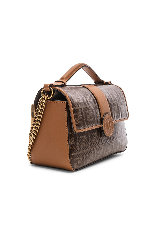 Image 4 of Fendi Double F Shoulder Bag in Tan