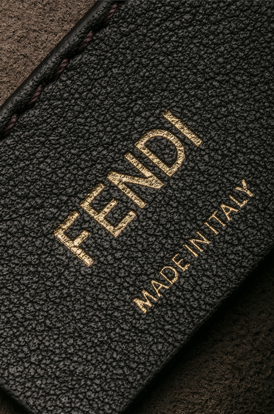 Image 7 of Fendi Two Tone Logo Shoulder Bag in Chocolate