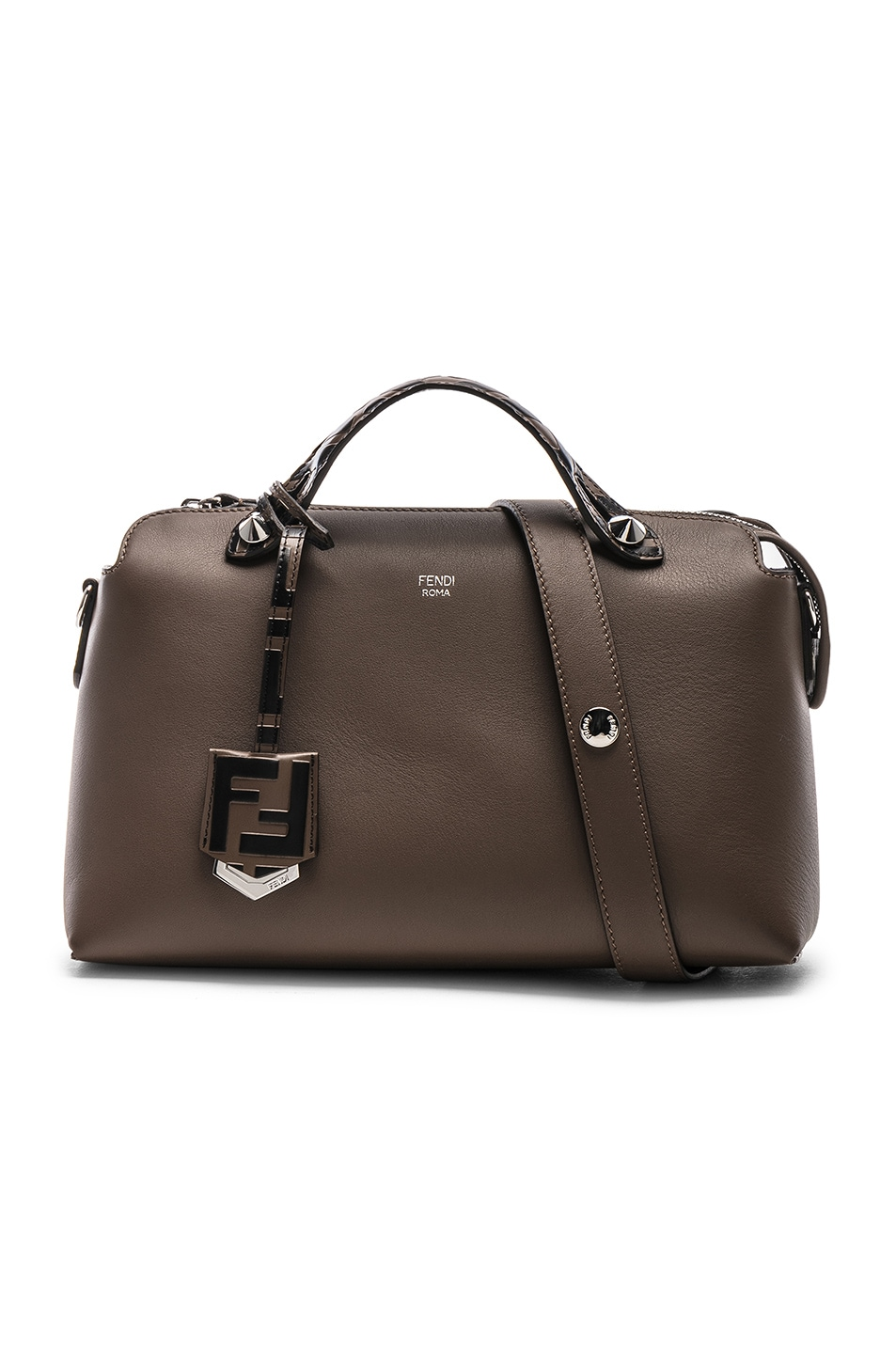 Image 1 of Fendi Medium Crossbody Bag in Chocolate