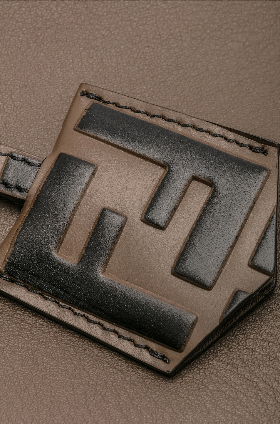 Image 8 of Fendi Medium Crossbody Bag in Chocolate