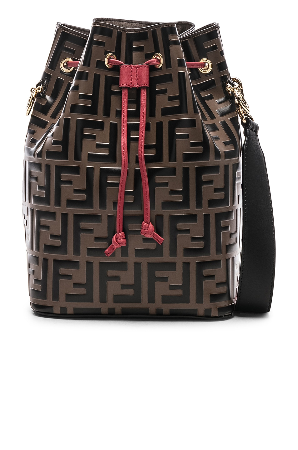 Image 1 of Fendi Mon Tresor Bag in Black & Strawberry