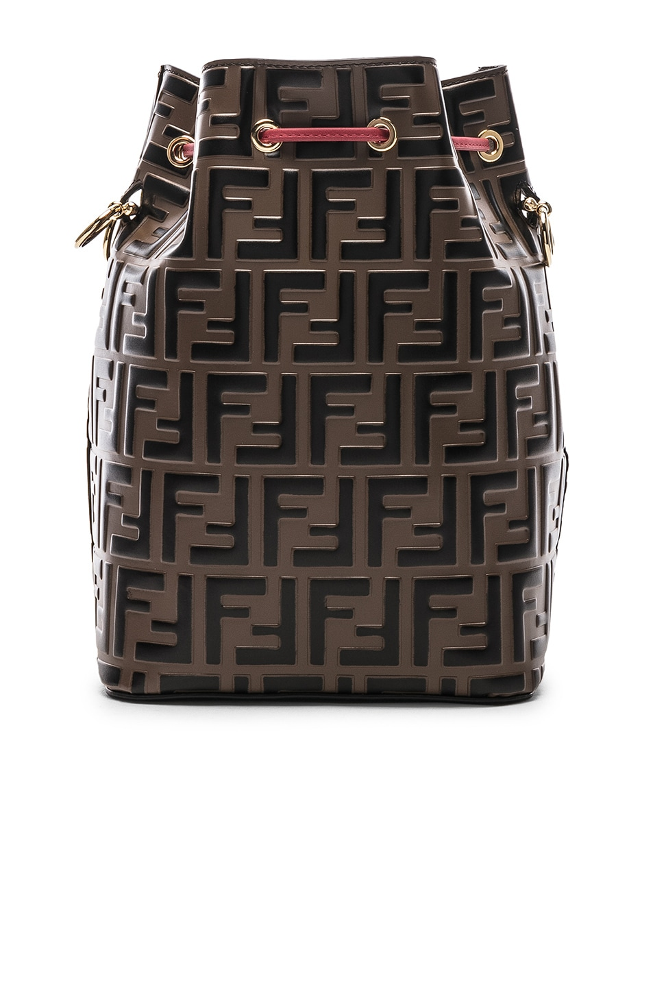 Image 3 of Fendi Mon Tresor Bag in Black & Strawberry