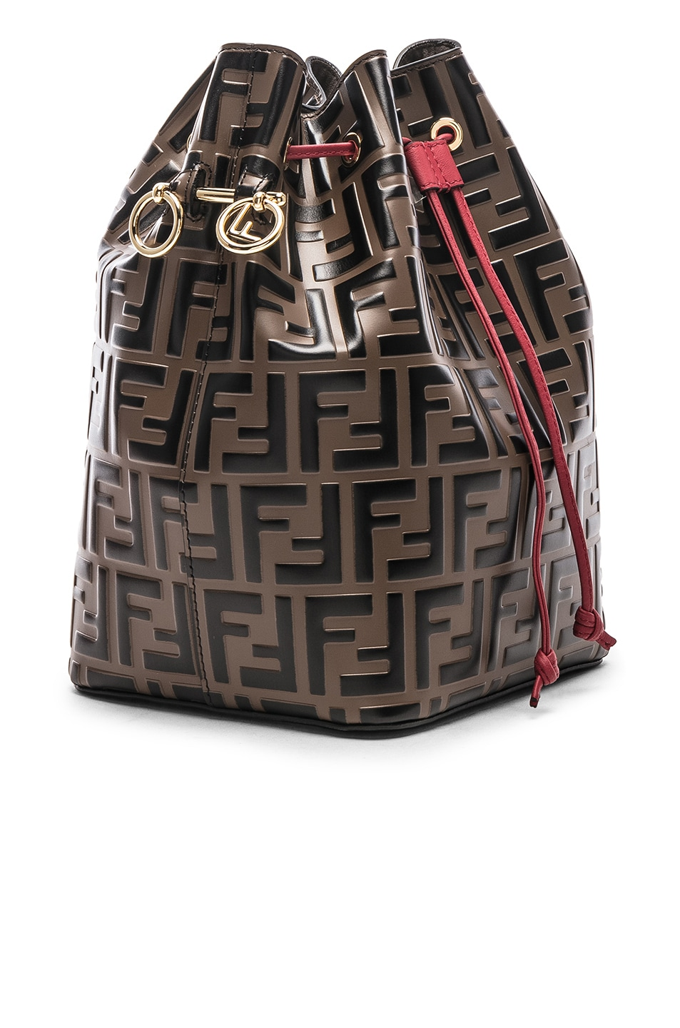 Image 4 of Fendi Mon Tresor Bag in Black & Strawberry