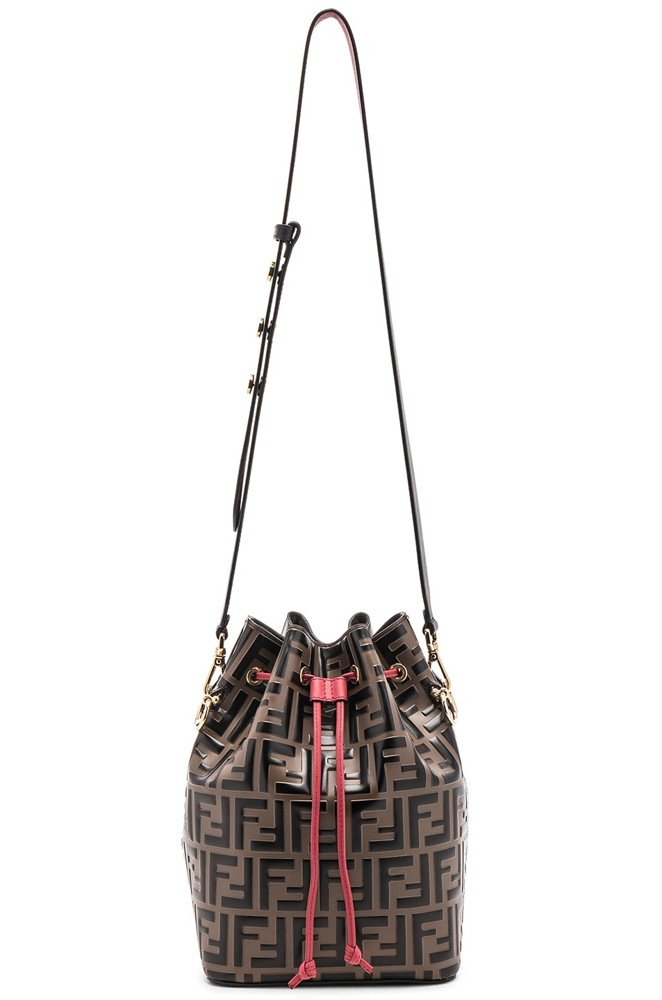 Image 6 of Fendi Mon Tresor Bag in Black & Strawberry