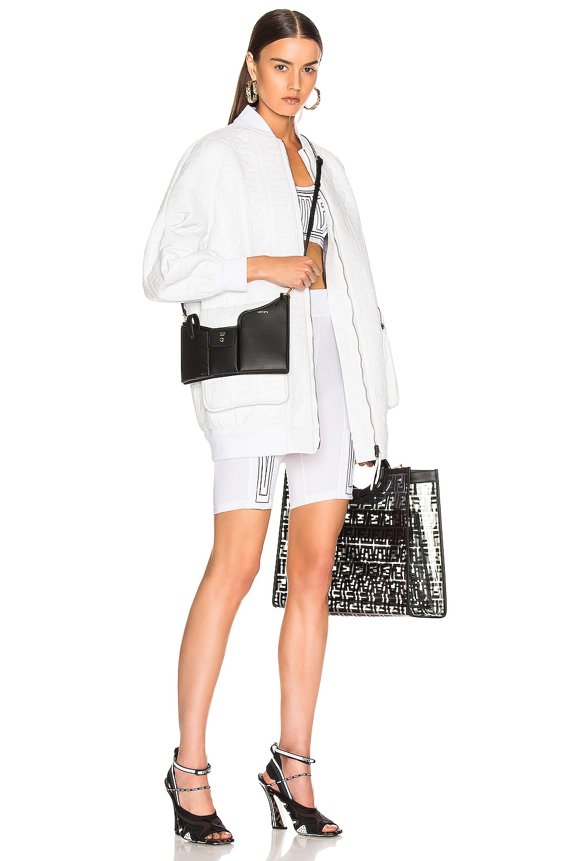 Image 2 of Fendi Mini Three Pocket Crossbody Bag in Black