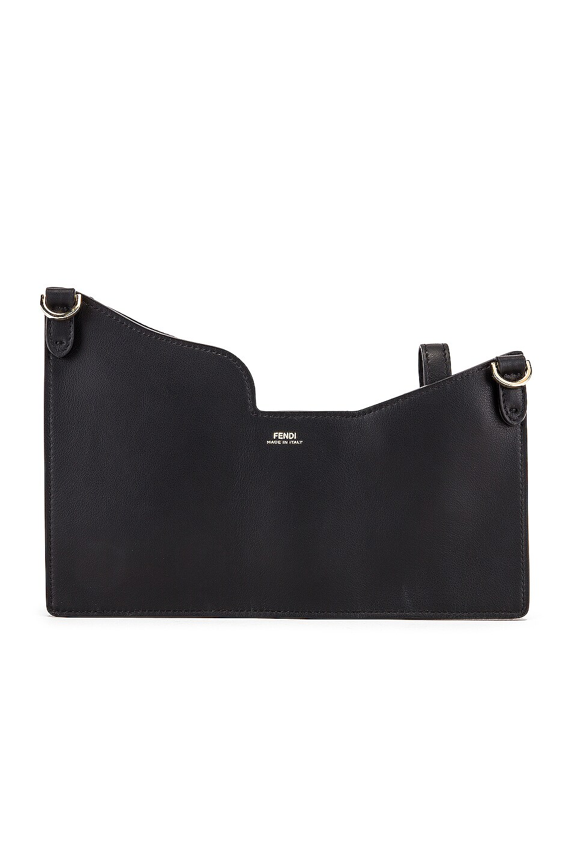 Image 3 of Fendi Mini Three Pocket Crossbody Bag in Black