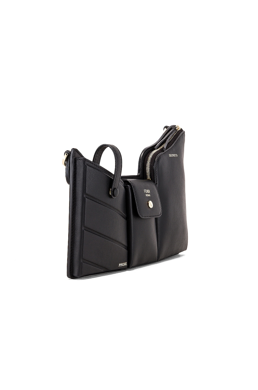 Image 4 of Fendi Mini Three Pocket Crossbody Bag in Black