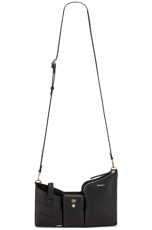 Image 6 of Fendi Mini Three Pocket Crossbody Bag in Black