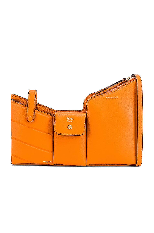 Image 1 of Fendi Mini Three Pocket Crossbody in Orange