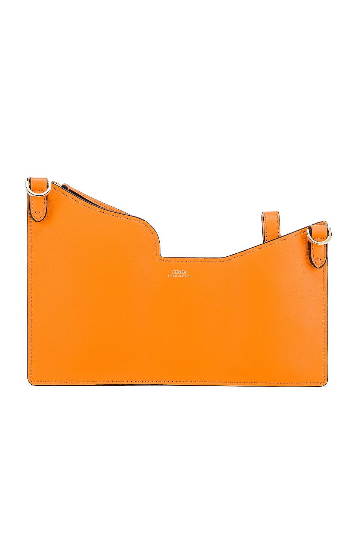 Image 3 of Fendi Mini Three Pocket Crossbody in Orange