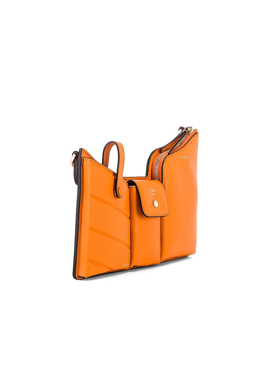 Image 4 of Fendi Mini Three Pocket Crossbody in Orange