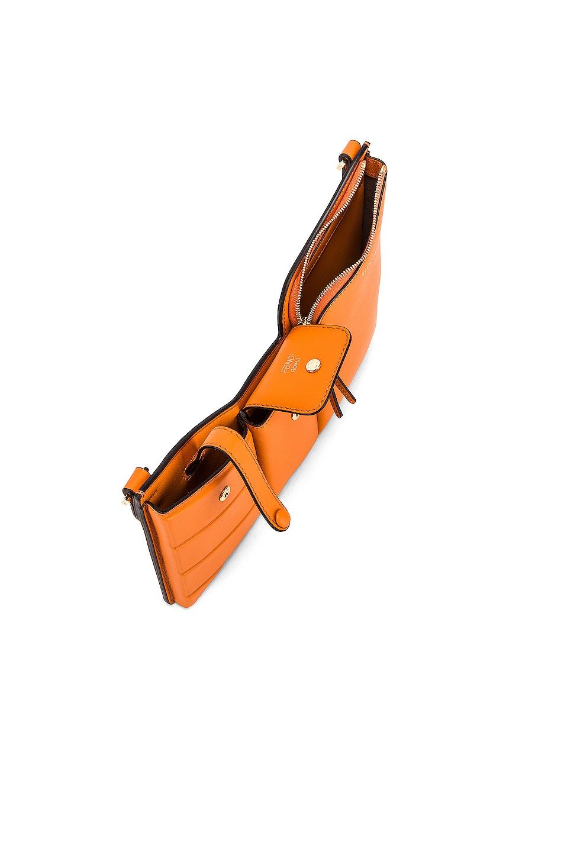 Image 5 of Fendi Mini Three Pocket Crossbody in Orange