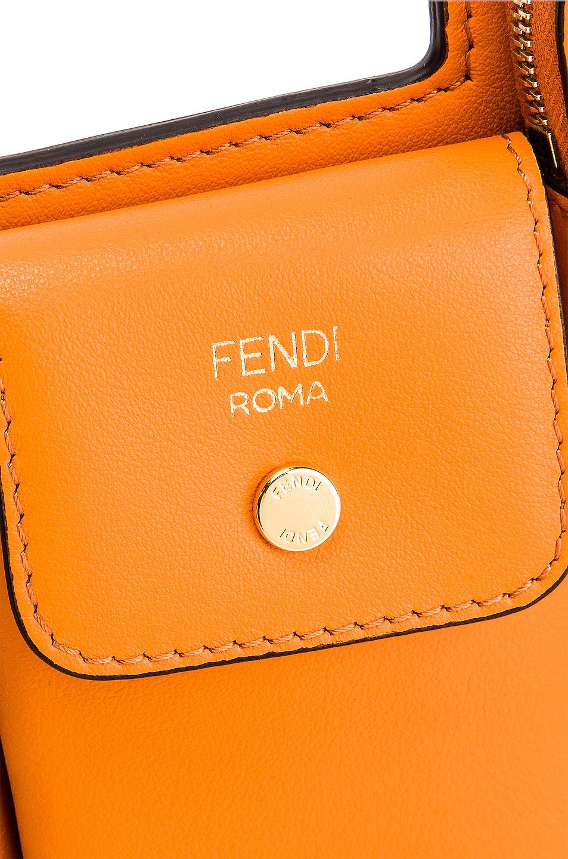 Image 7 of Fendi Mini Three Pocket Crossbody in Orange