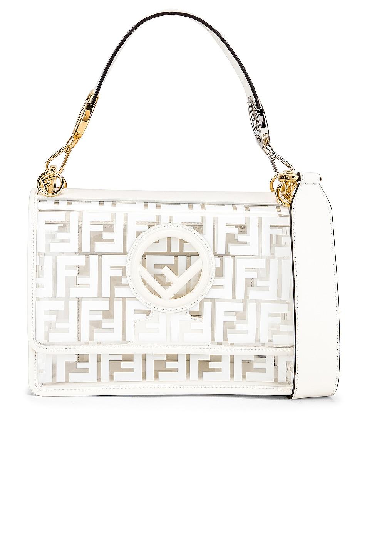 Image 1 of Fendi Kan I Logo Crossbody Bag in White